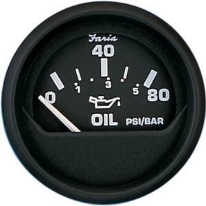 euro black oil pressure gauge