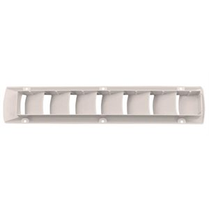 louvered vent white