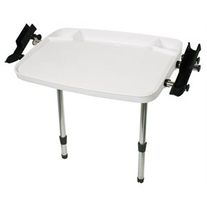 """18¾"""" x 28¼"""" bait board with 2 adjustable legs and 2 rod holders"""