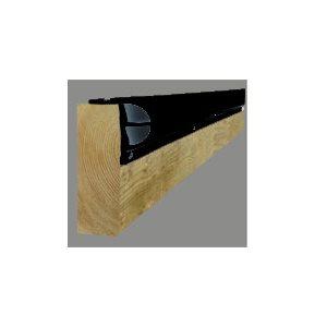 Heavy Duty  p- Shape Dock Bumper (black)
