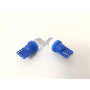 t10 guage bulb blue 2-pack