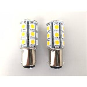led bulb white ba15d type 1, 2-pk