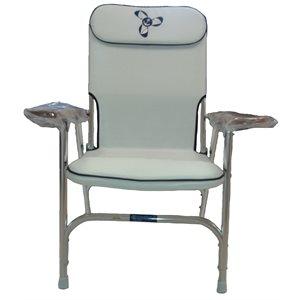 chaise de pont pliante dlx blanche