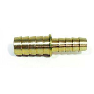 """3 / 8"""" brass hose mender w /  ss hose clamps"""