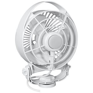 ventilateur maestro à vitesse var. 12v blanc
