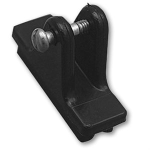 deck hinge with slide - black