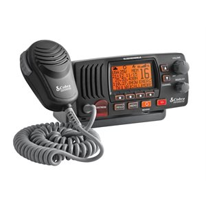 25 watt class-d fixed mount vhf radio, black