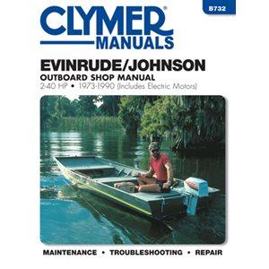 service manual evinrude / johnson 2-40 hp ob 73-1990