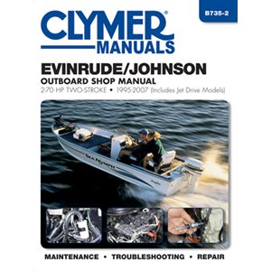 service manual evinrude / johnson 2-stroke outboard shop manual 2-70 hp 95-03