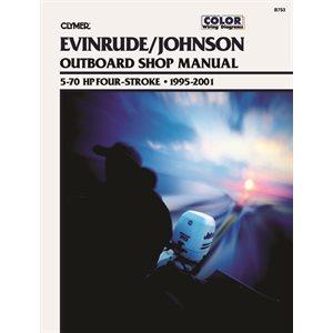 service manual johnson / evinrude four-stroke outboard motor shop manual
