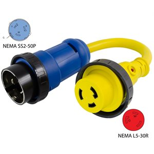 50A Pigtail Adapter Cord