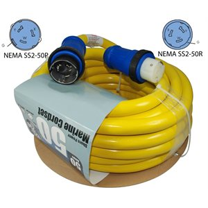 Molded Extension Cord 50' 50a