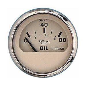 euro beige ss oil pressure gauge