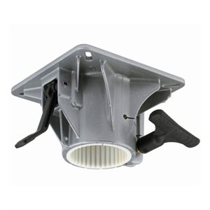 Internal delrin bearing cup - swivel mount top ribbed series