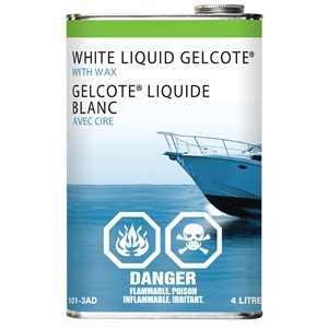 white liquid gelcote with wax,  4l