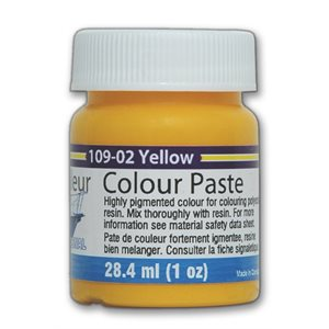color paste - yellow, 1oz