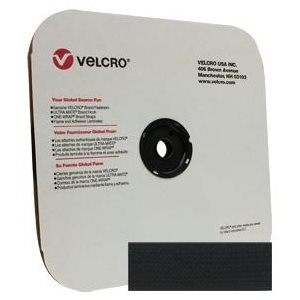 """1"""" velcro black hook tape"""
