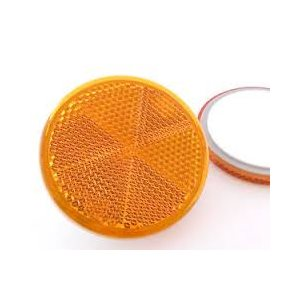 stick-on reflector amber