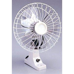 white oscillating fan 12v