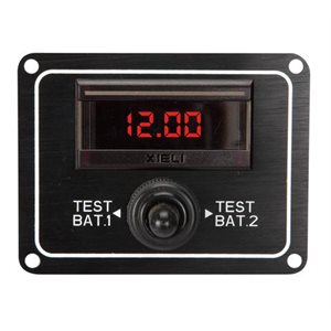 dc digital voltmeter dual battery