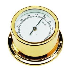 hygromètre plaquée or cadran 50mm