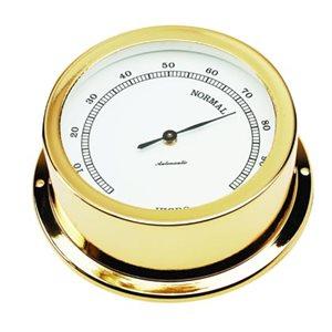 hygromètre plaquée or cadran 70mm