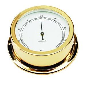 thermomètre plaquée or cadran 70mm