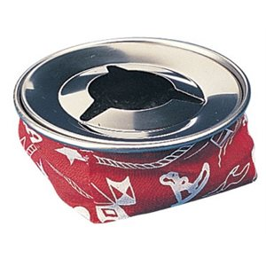 bean bag ash tray w /  stainless steel top red