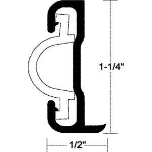 """moulure d'alum. 1 1 / 4""""  x 12'"""