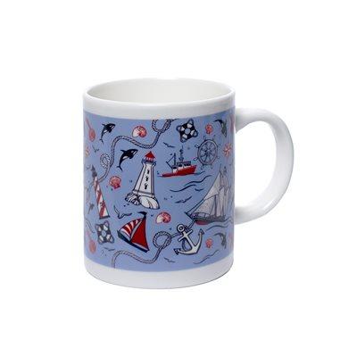 Tasse avec motifs marins