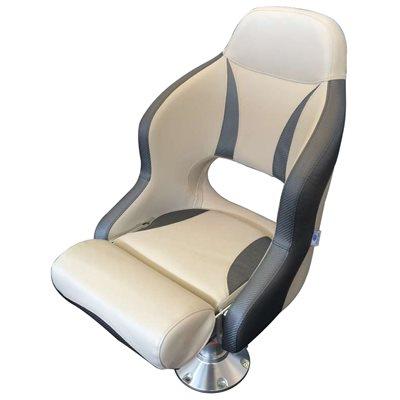 siège baquet à rabat 'bolster-flip'' de luxe de couleur blanc et anthracite
