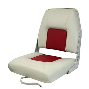 light grey & red folding seat