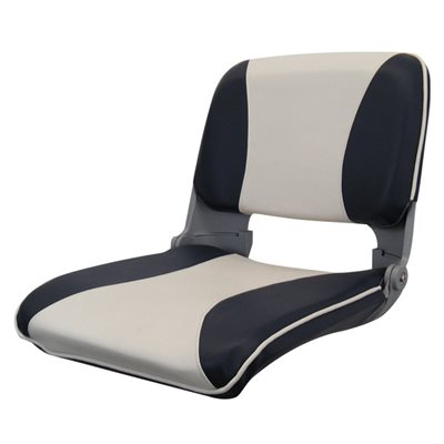 siège pliant avec de type coquille, anthracite et gris pale