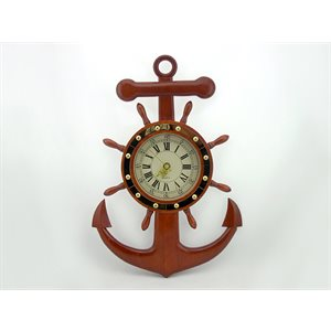 Anchor & Wheel Clock