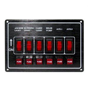 fuse panel (6) horizontal