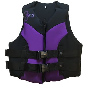 Neoprene Canadian approved women's outdoor sports and boating life jacket vest, SMALL