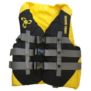 Veste de luxe de flottaison individuel pour activités sportives et de plaisance, approuvé au Canada, LARGE