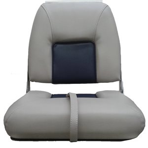 light grey & navy blue folding seat