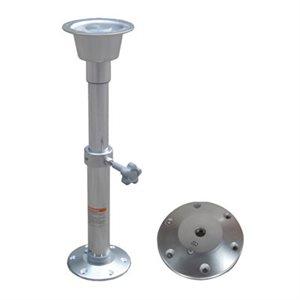 """ens. de poteau de table en aluminium ajus. 19¾"""" à 27½"""""""
