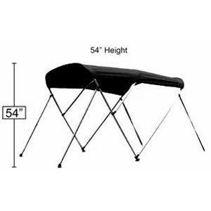 "Bimini top black 72"" l x 54"" h x 73-78"" w"
