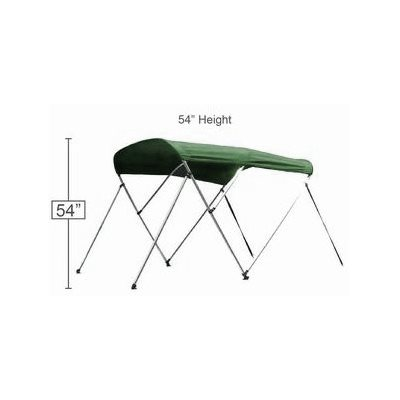 "bimini top green 72"" l x 54"" h x 67-72"" w"