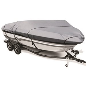 amma BLUE boat cover for 14 to 16' X 75'' v-hull fishing boat