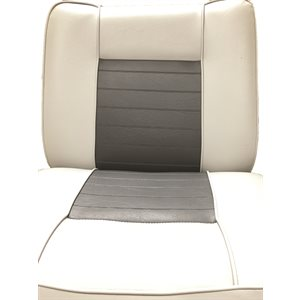 back-to-back lounge seat grey / charcoal