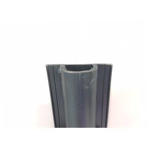 protecteur de quai à profil en d plat (noir)