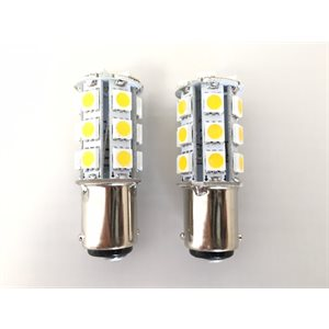 led bulb white ba15d type 1, 2-pk