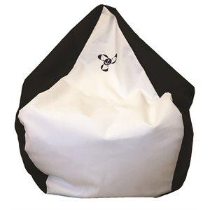 fauteuil poire noir / blanc