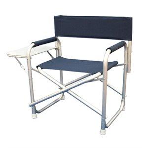 chaise de pont pliante en aluminium avec plateau