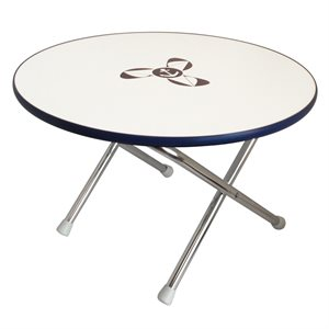 Round folding deck table