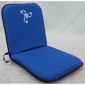 siège pliant bleu royal / noir