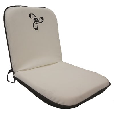 siège pliant blanc  /  noir